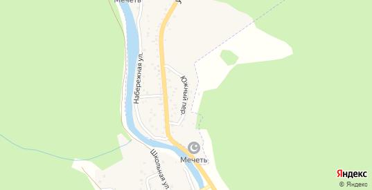 Южный переулок в Карачаевске с номерами домов на карте. Спутник и схема онлайн