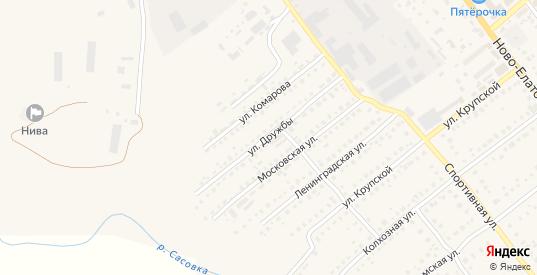 Улица Дружбы в Сасово с номерами домов на карте. Спутник и схема онлайн