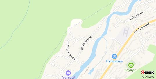 Центральный переулок в Карачаевске с номерами домов на карте. Спутник и схема онлайн