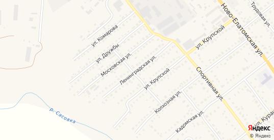 Ленинградская улица в Сасово с номерами домов на карте. Спутник и схема онлайн
