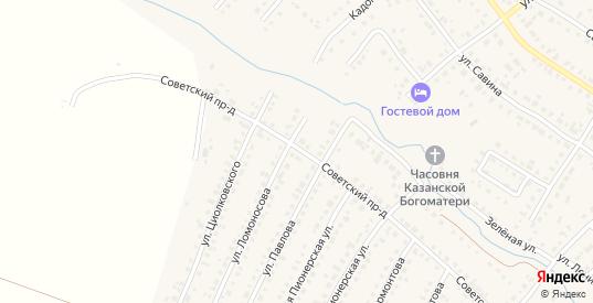 Советский проезд в Сасово с номерами домов на карте. Спутник и схема онлайн