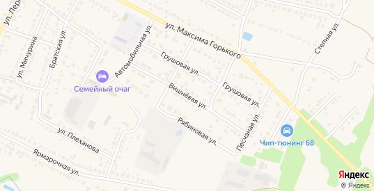 Вишневая улица в Рассказово с номерами домов на карте. Спутник и схема онлайн