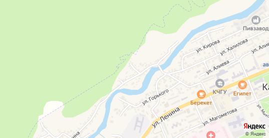 Клубный переулок в Карачаевске с номерами домов на карте. Спутник и схема онлайн