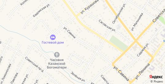 Улица Савина в Сасово с номерами домов на карте. Спутник и схема онлайн