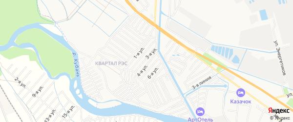 Садовое товарищество Радуга на карте Невинномысска с номерами домов