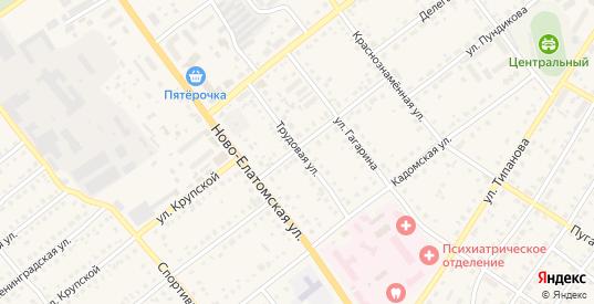 Трудовая улица в Сасово с номерами домов на карте. Спутник и схема онлайн