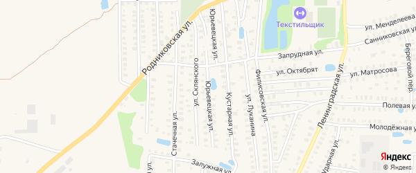 Конспиративная улица на карте Вичуги с номерами домов