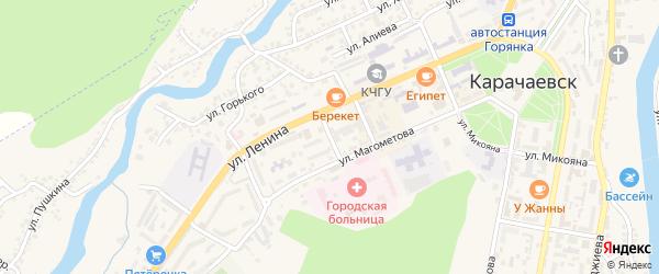 Переулок Биджиева на карте Карачаевска с номерами домов