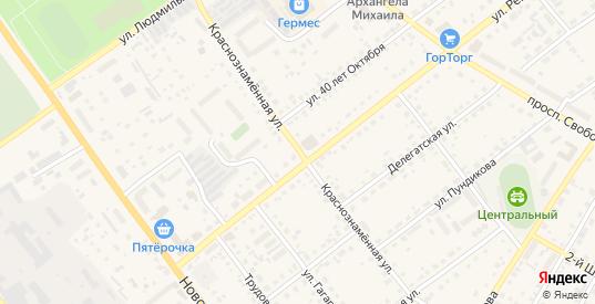 Краснознаменная улица в Сасово с номерами домов на карте. Спутник и схема онлайн
