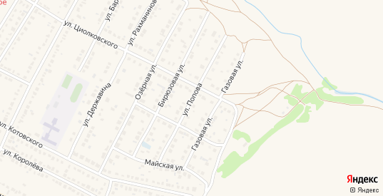 Улица Попова в Рассказово с номерами домов на карте. Спутник и схема онлайн