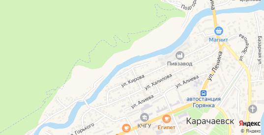 Молодежная улица в Карачаевске с номерами домов на карте. Спутник и схема онлайн