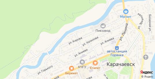 Дорожный переулок в Карачаевске с номерами домов на карте. Спутник и схема онлайн