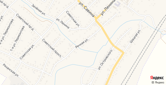 Речная улица в Сасово с номерами домов на карте. Спутник и схема онлайн