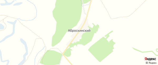 Карта Аброскинский хутора в Волгоградской области с улицами и номерами домов