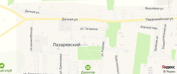 Учительский переулок на карте Лазаревского поселка Калмыкии с номерами домов