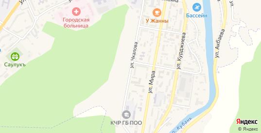 Улица Чкалова в Карачаевске с номерами домов на карте. Спутник и схема онлайн