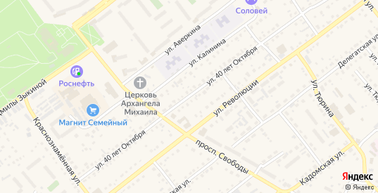 Улица 40 лет Октября в Сасово с номерами домов на карте. Спутник и схема онлайн