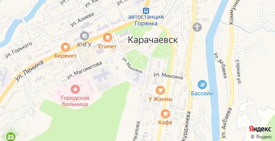 Улица Микояна в Карачаевске с номерами домов на карте. Спутник и схема онлайн