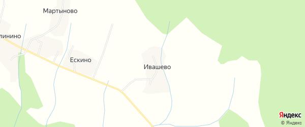 Карта деревни Ивашево в Костромской области с улицами и номерами домов