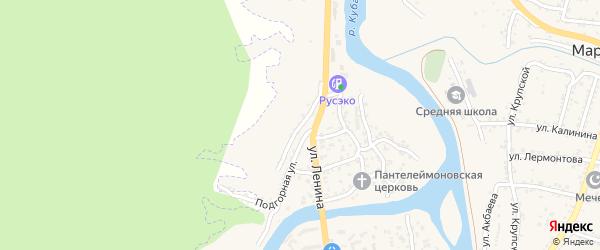 Садовый переулок на карте Карачаевска с номерами домов