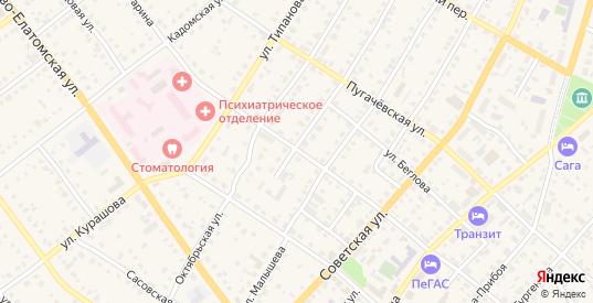 Улица Гагарина в Сасово с номерами домов на карте. Спутник и схема онлайн