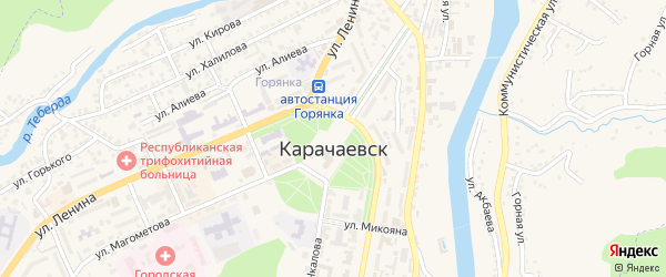 Дальний переулок на карте Карачаевска с номерами домов