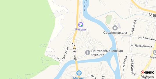 Сосновый переулок в Карачаевске с номерами домов на карте. Спутник и схема онлайн