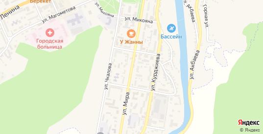 Улица Мира в Карачаевске с номерами домов на карте. Спутник и схема онлайн
