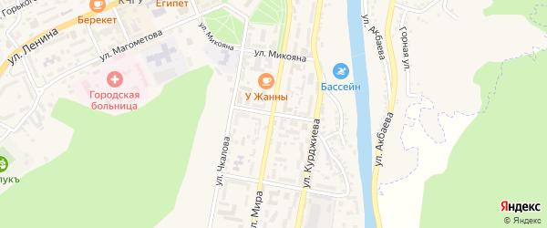 Улица Хетагурова на карте Карачаевска с номерами домов