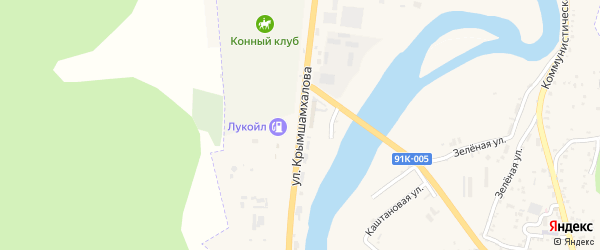 Улица Крымшамхалова на карте Карачаевска с номерами домов