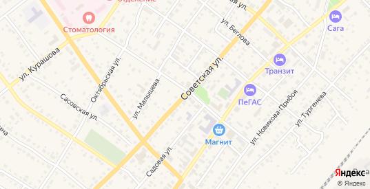 Советская улица в Сасово с номерами домов на карте. Спутник и схема онлайн