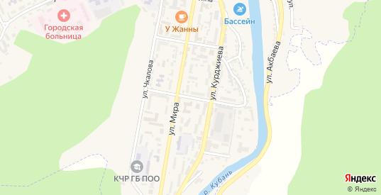 Улица Байрамукова в Карачаевске с номерами домов на карте. Спутник и схема онлайн