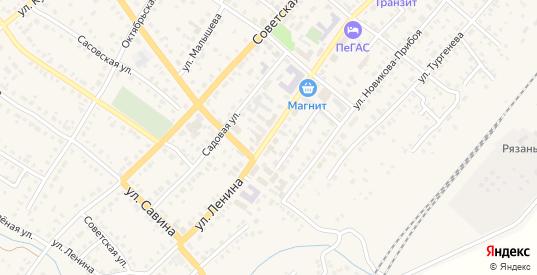 Улица Ленина в Сасово с номерами домов на карте. Спутник и схема онлайн