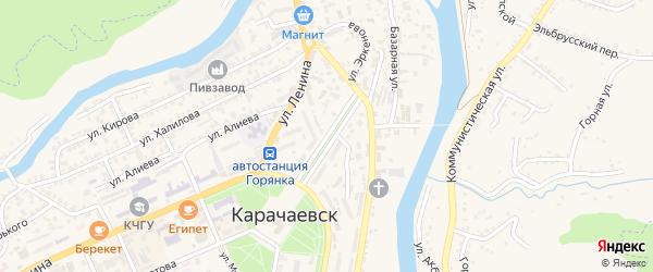 Улица Орджоникидзе на карте Карачаевска с номерами домов