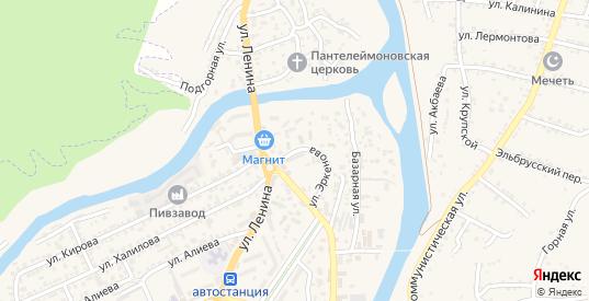 Улица Эркенова в Карачаевске с номерами домов на карте. Спутник и схема онлайн