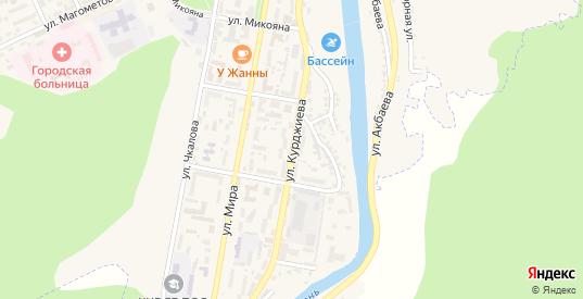 Улица Курджиева в Карачаевске с номерами домов на карте. Спутник и схема онлайн