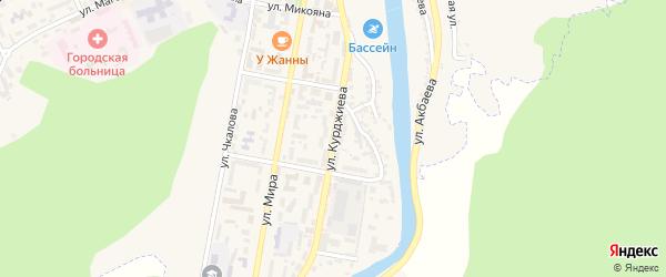 Улица Курджиева на карте Карачаевска с номерами домов