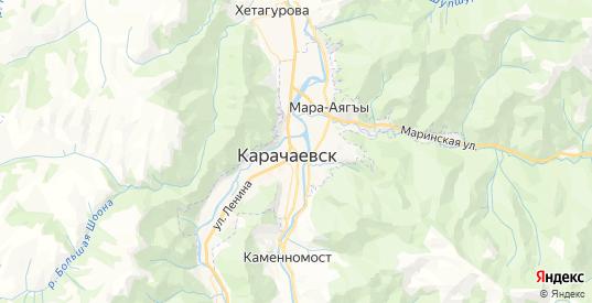 Карта Карачаевска с улицами и домами подробная. Показать со спутника номера домов онлайн