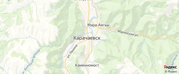 Карта Карачаевска с районами, улицами и номерами домов