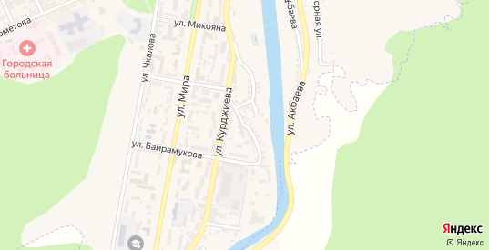 Советская улица в Карачаевске с номерами домов на карте. Спутник и схема онлайн