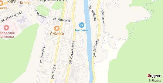 Кубанская улица в Карачаевске с номерами домов на карте. Спутник и схема онлайн