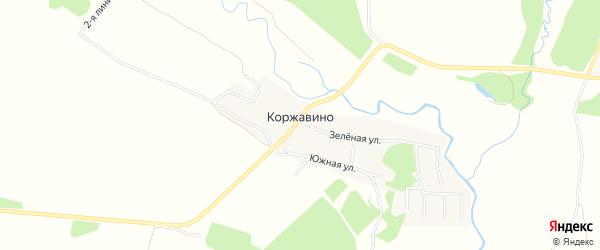 Карта деревни Коржавино в Владимирской области с улицами и номерами домов