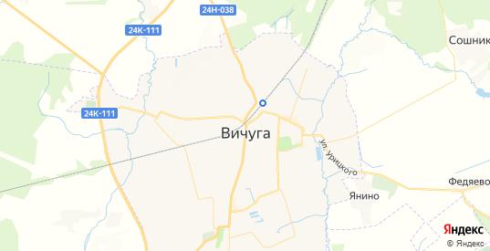 Карта Вичуги с улицами и домами подробная. Показать со спутника номера домов онлайн