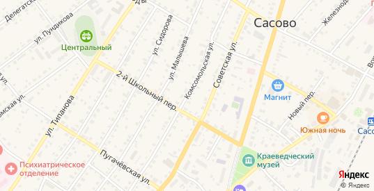 Комсомольская улица в Сасово с номерами домов на карте. Спутник и схема онлайн