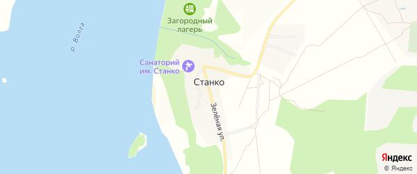 Карта села Станко в Ивановской области с улицами и номерами домов
