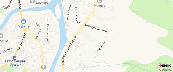 Солнечный переулок на карте поселка Мара-Аягъы с номерами домов