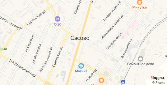 Улица Ветеранов Октября в Сасово с номерами домов на карте. Спутник и схема онлайн