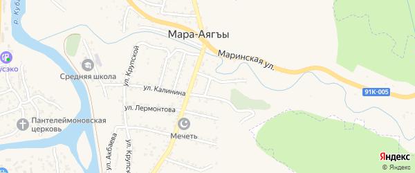 Переулок Труда на карте поселка Мара-Аягъы с номерами домов