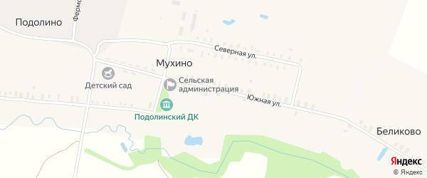 Южная улица на карте деревни Мухино Ивановской области с номерами домов