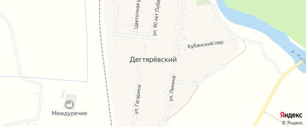 Железнодорожная улица на карте Дегтяревского хутора Ставропольского края с номерами домов